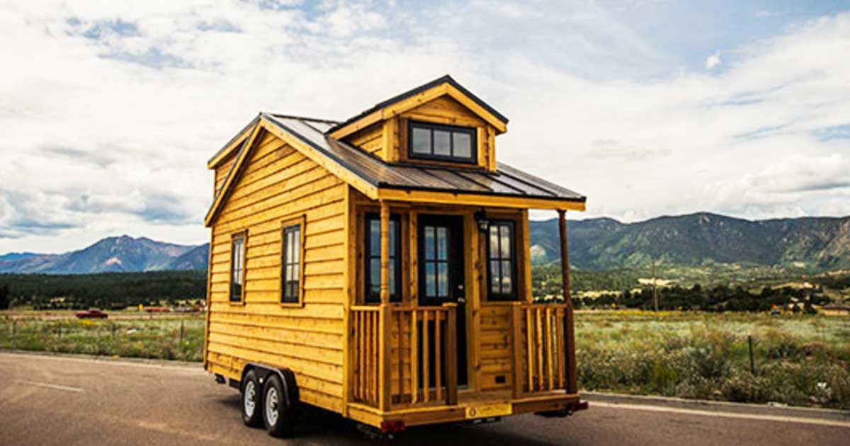 The openness of this tiny houses living room is